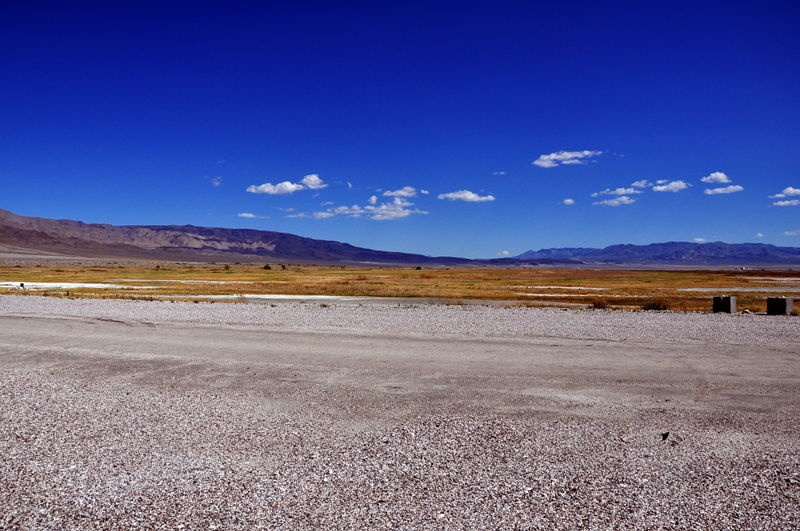 Owens lake is dry although it was once a massive lake until LA took all the water for themselves.