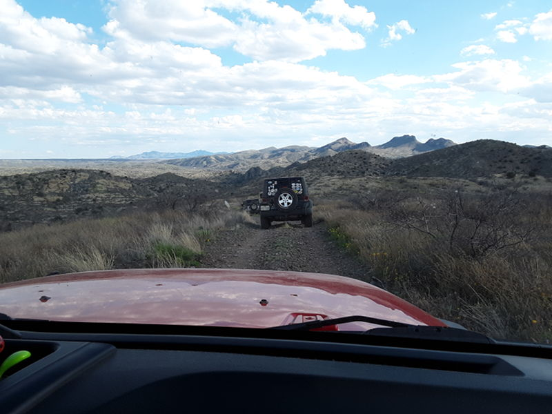 Adam on a Jeep Tour out in the Arizona desert with a group of Escapee's from the Saguaro Co-op in Benson, Arizona.