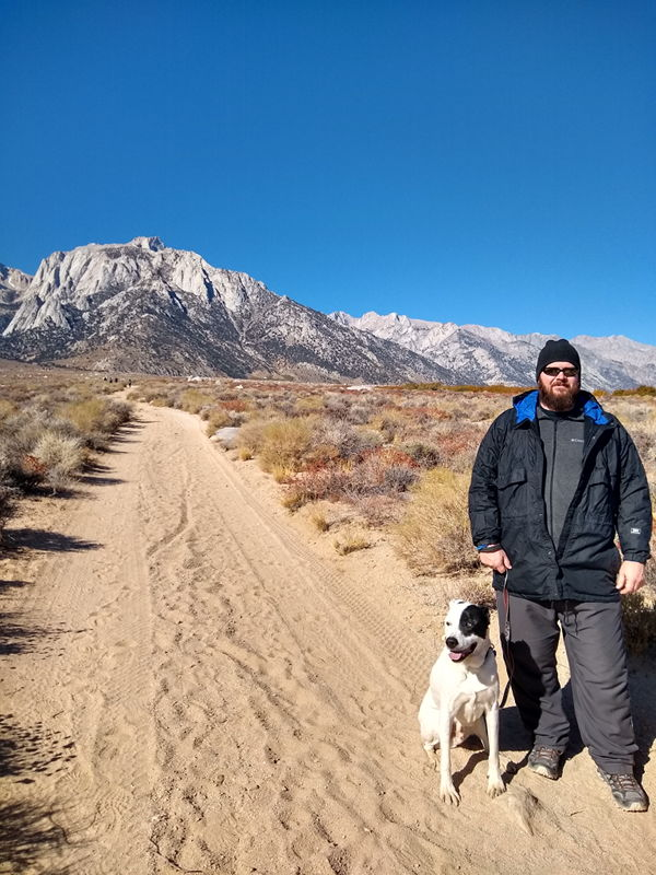 We're all on a walk in the Eastern Sierra Nevada Mountains.