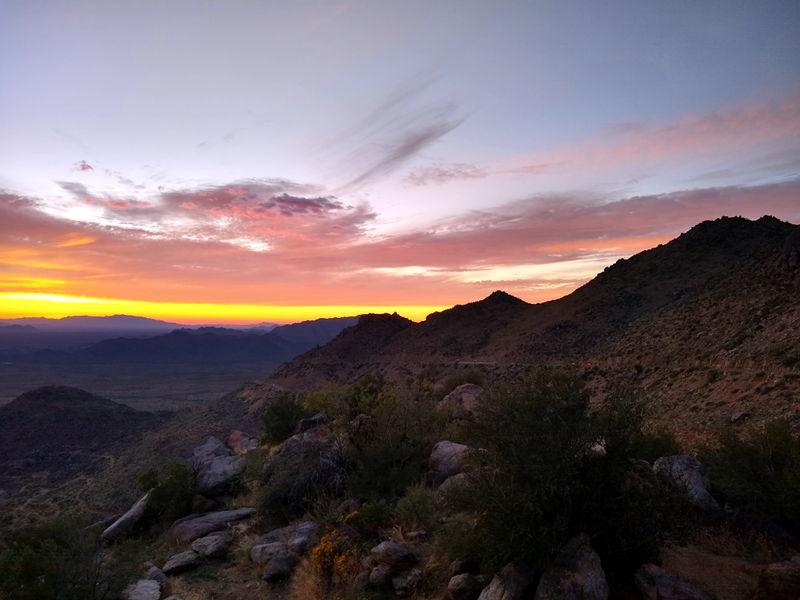 Arizona sunset picture taken not to far from Congress, AZ.