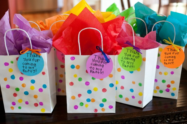 Fun and, Usable Art Themed Birthday Party Favors