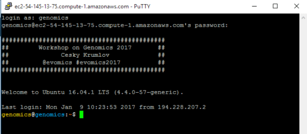 Connecting to your Amazon Instance - Evolution and Genomics