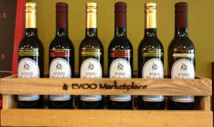 EVOO Marketplace 6 Bottle Wood Rack