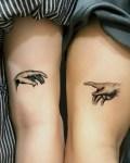 Парная татуировка руки