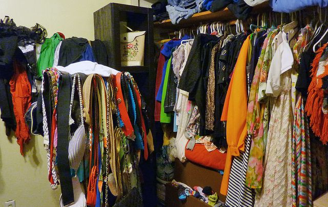 Image result for crowded closet