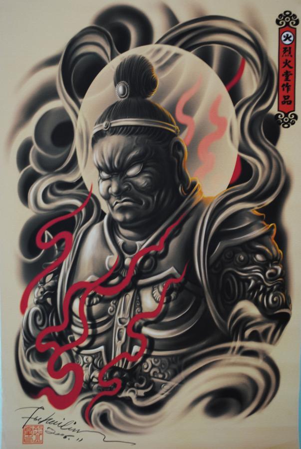 Japanese-warrior-tattoo-design