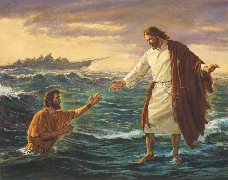 İsa'nın suda yürüme mucizesi...