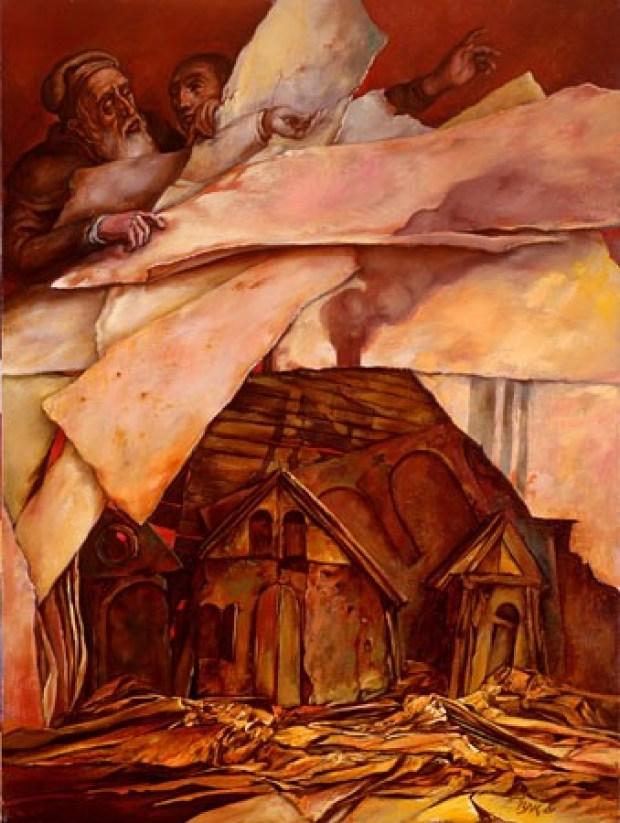 samuel bak 034 Холокост в еврейских картинах Самуила Бака (Samuel Bak)