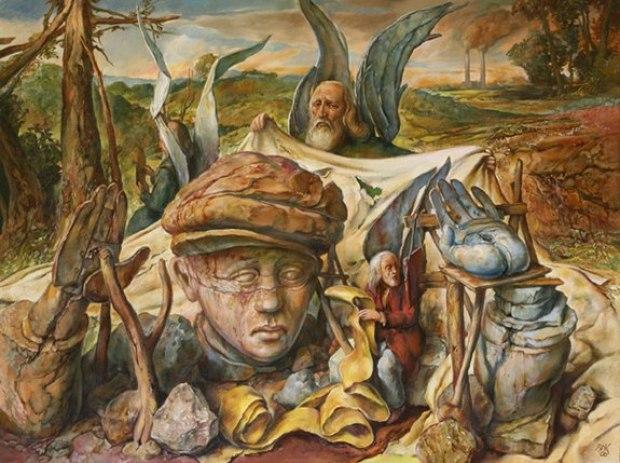 samuel bak 077 Холокост в еврейских картинах Самуила Бака (Samuel Bak)