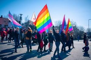 Националната LGBTQIA+ oрганизация Samtökin '78 демонстрираха на 1 Май за свободна изява на идентичността им на работното място. Фото: Alda Villiljos/Samtokin78.is