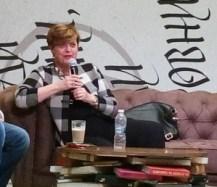 """Леа Коен по време на дискусията """"Чуждият и ние"""" през декември 2015 г. Фото: Велина Барова / Евромегдан"""