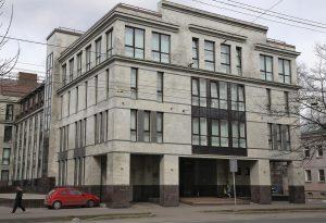 """Сградата на """"фабрика на тролове"""" в Санкт-Петербург. Фото: Дмитрий Ловетский"""