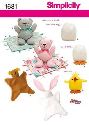 Выкройка Simplicity — Мягкие игрушки - S1681 ()