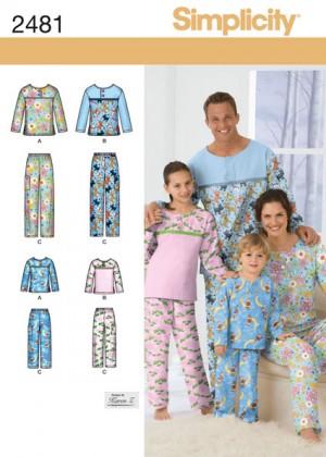 Выкройка Simplicity — Пижама - S2481