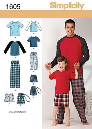 Выкройка Simplicity — Пижама, Домашний костюм - S1605