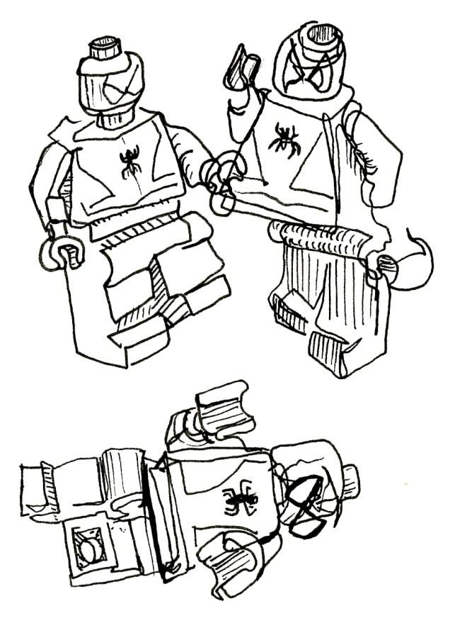Blind Contour Drawing Lego Spiderman Evrydayart