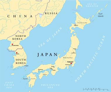 Japan Und Korea Landkarte Evs Translations Blog