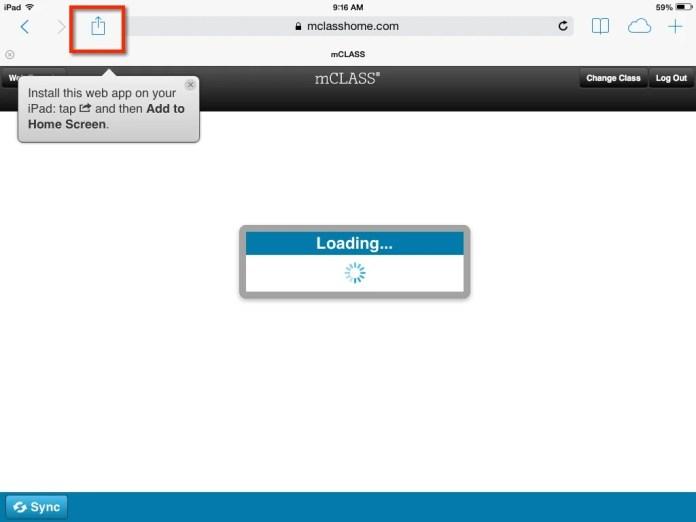 iPad Share Button