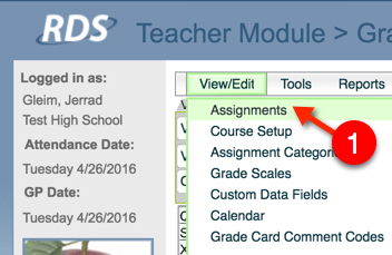 RDS Create Multiple Assignments - Step 1