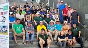 Kitchener City Hall EV owners group shot