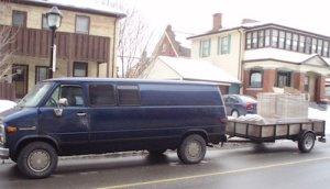 Ian's van that ran on waste vegetable oil