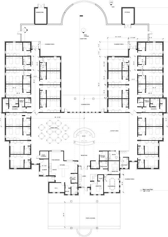 Memory Care Center Design 48 Bed