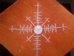 Hímzett menyegző részlet-készítette Szakady Kincső