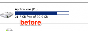 Disk Space Before