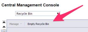 Recycle Bin CMC Empty Recycle Bin