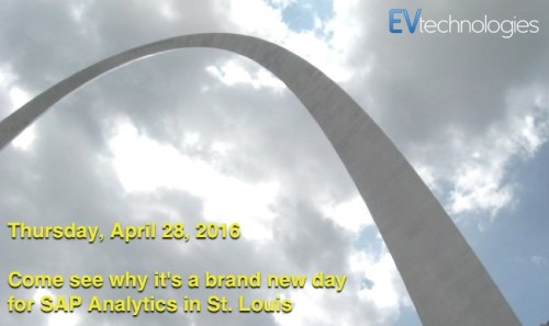 St. Louis SAP Analytics User Group April 2016