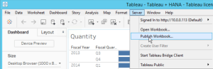 Publish Workbook from Tableau Desktop