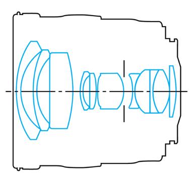 оптическая схема Canon EF 20/2.8 USM