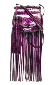 Gucci Nouveau Python Fringed Shoulder Bag, $3,100; gucci.com