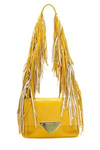 Sara Battaglia Colorblock Fringe Shoulder Bag, $1,050; intermixonline.com
