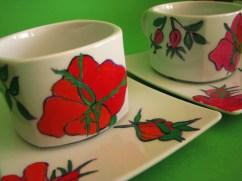 filiżanka w róże