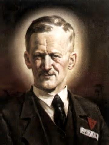 Bł. Stanisław Kostka Starowieyski, męczennik, zamordowany w Dachau (portret namalowany z okazji beatyfikacji)