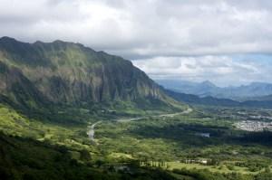 Cliffs of the Koolau Mountain Range, Oahu