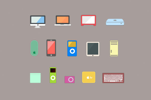 Flat Apple devices pack
