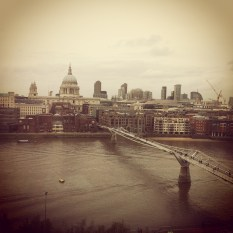 view from the coffee place at Tate