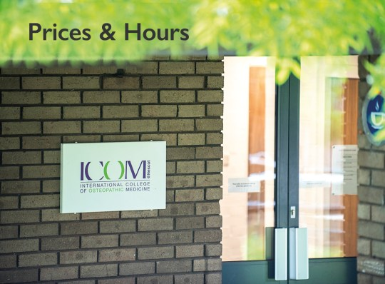 Nescot Osteopathy Clinic Ewell prices and hours