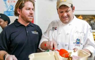 Mission Chef Nathan Richard and Trent Verges