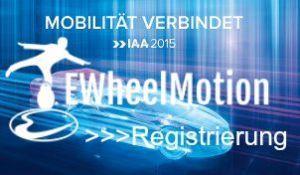 Registrieren und EWheel fahren auf der IAA