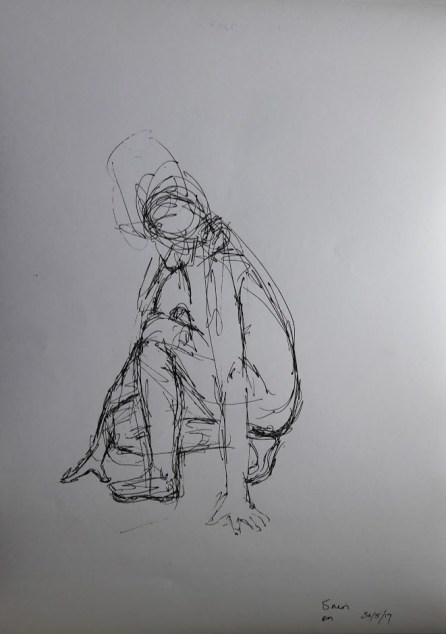 Fig. 5. 5 minutes. drawing pen