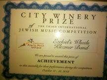The jury awards us as the best klezmer ensemble of the festival!
