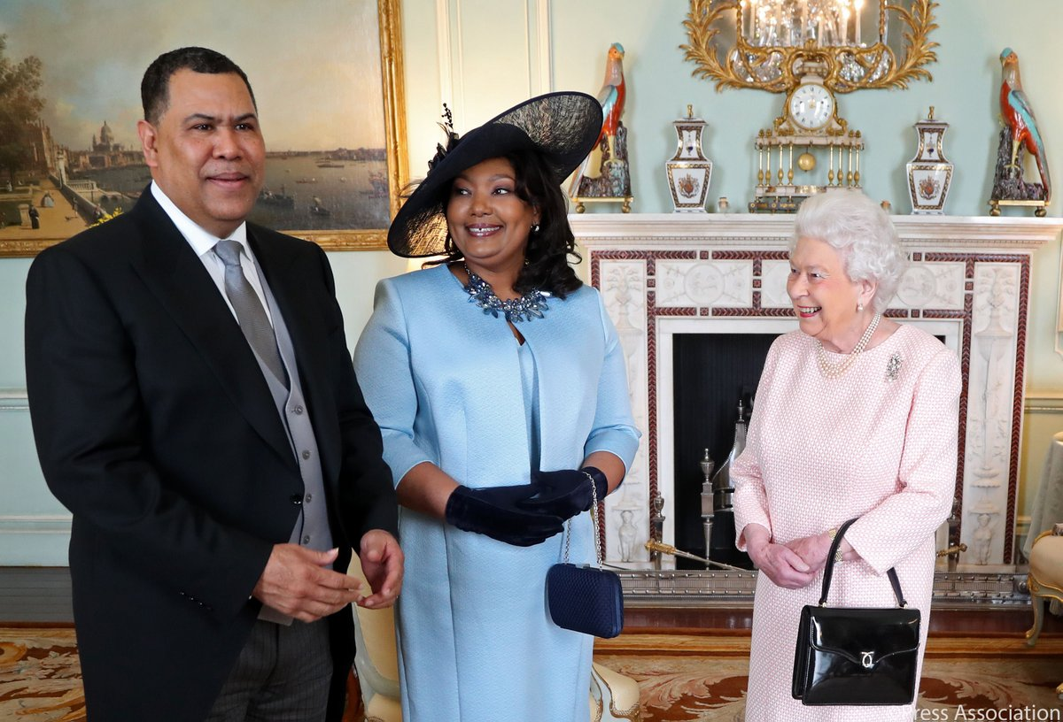 Greenslade, wife received by Queen Elizabeth II at Buckingham Palace