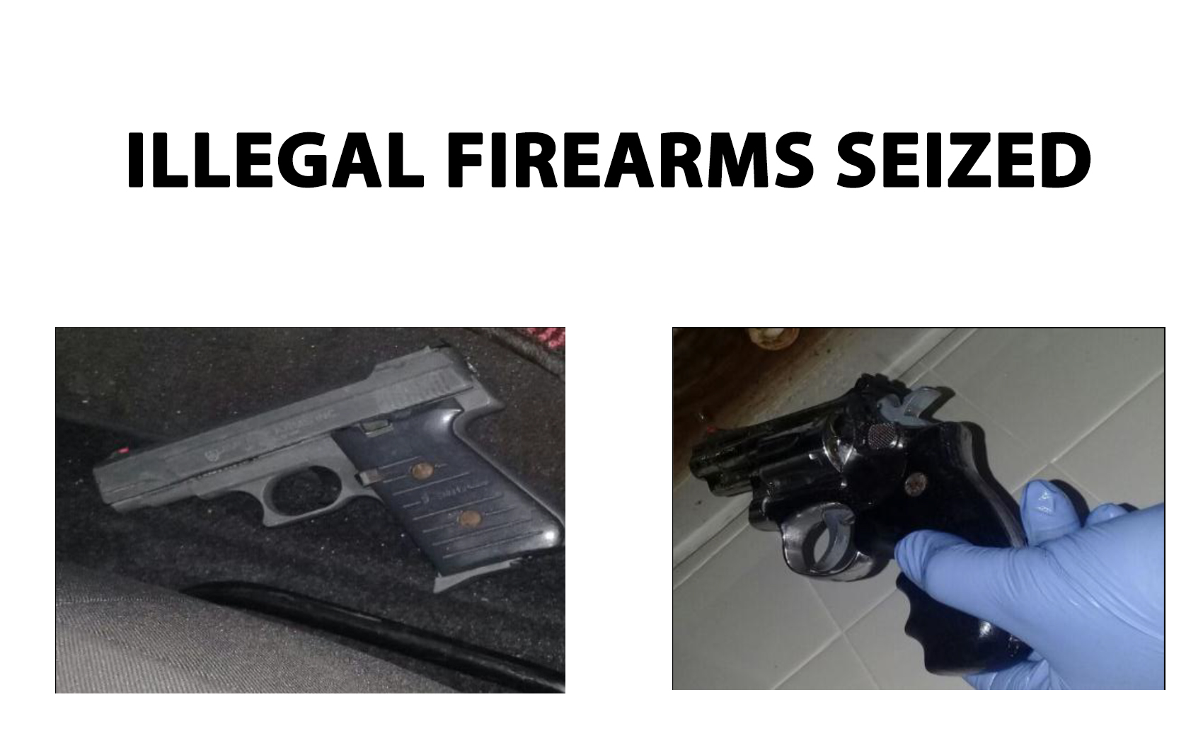 Man killed in industrial accident; illegal firearms seized
