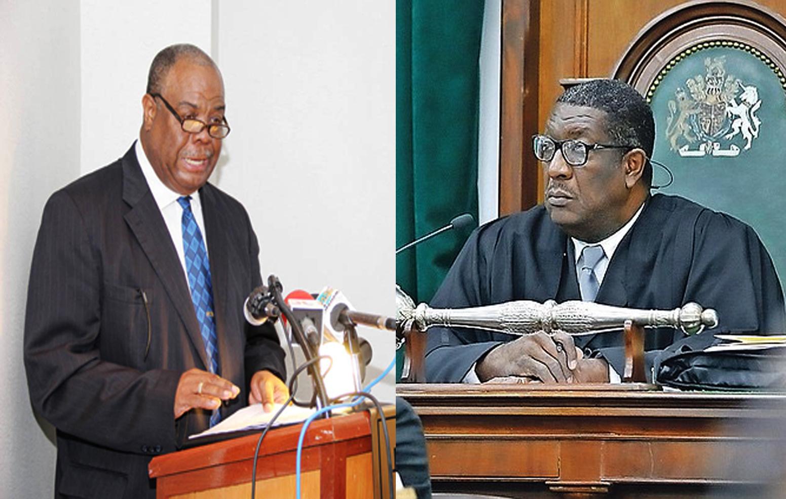Speaker attacks retired clerk