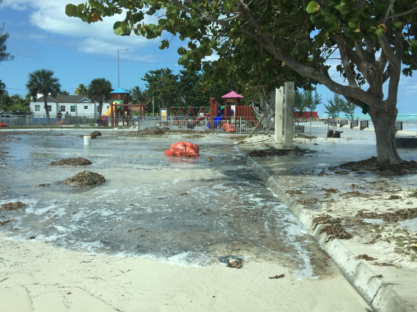 Severe weather impacts coastal roads