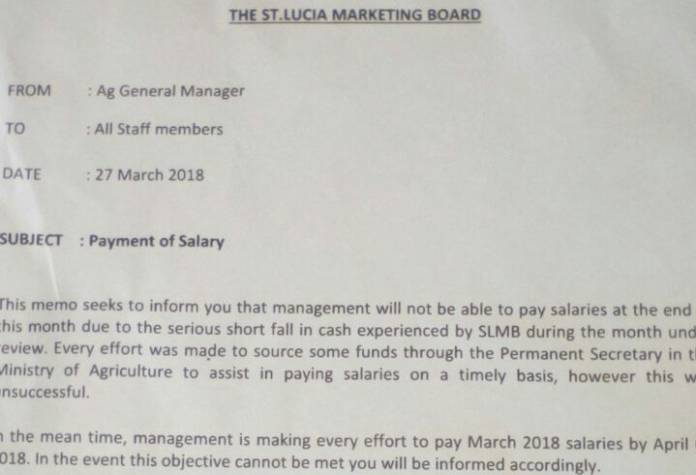 St Lucia Marketing Board cannot pay staff, despite claimed economic growth