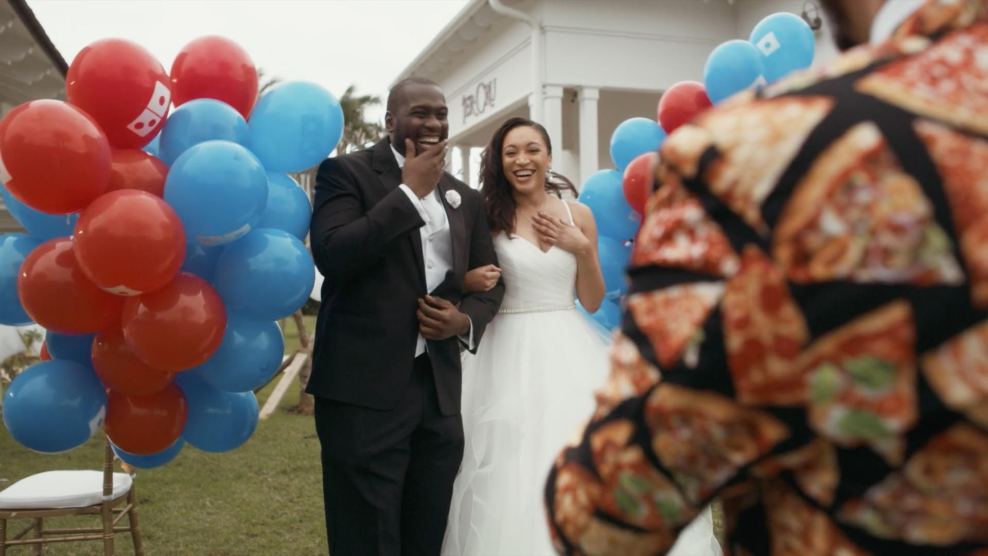 Domino's 'Cheesy Wedding' commercial takes top prize at Telly Awards